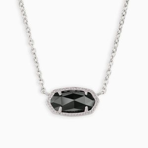 Elisa silver pendant necklace